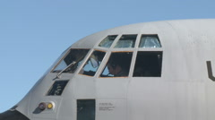 Air Force Pilot Doing Preflight Checks Stock Footage