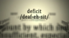 Definition: Deficit Stock Footage