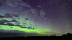 A Sky Afire with Northern Lightrs in Time Lapse - stock footage