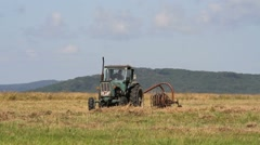 Tractor on the field Stock Footage