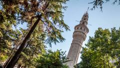 Istanbul - Beyazit Tower (Beyazit Kulesi) - stock footage