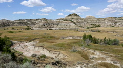 Theodore Roosevelt National Park Badlands Stock Footage