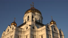 The Cathedral of Christ the Saviour (in 4k), Moscow, Russia. Stock Footage