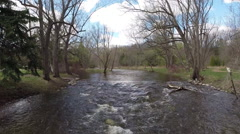 Stock Video Footage of Ariel over creek