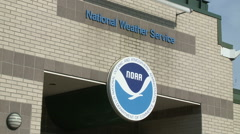 National Weather Service Office Stock Footage