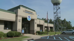 National Weather Service Office and NEXRAD Radar Stock Footage