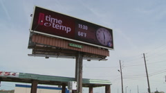 Electronic board showingTime and Temperature Stock Footage