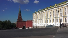 The Armoury inside the walls of the Kremlin (in 4k), Moscow, Russia. Stock Footage
