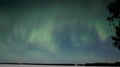 Stock Video Footage of Pulsing Aurora