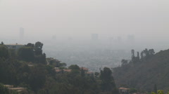 Visibility Under 3 Miles in Southern California Smog Stock Footage