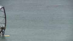 Windsurfing in Gentle Southern California Seas Stock Footage
