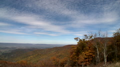 Waby clouds drift over North Carolina Mountains Stock Footage
