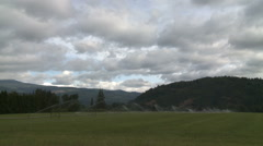 Irrigating an Oregon Pasture When Clouds Fail to Bring Rain Stock Footage