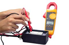 Digital volt meter. Stock Photos