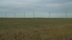 Farming Wheat and Wind Power on the Oregon Prairie Stock Footage