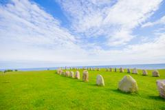 Ales stones in Skane, Sweden Stock Photos