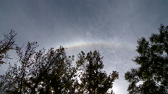 Not a Rainbow but a Segment of a Solar Halo Stock Footage
