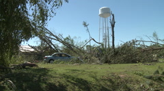Left Standing after the April 2011 Alabama Tornadoes Stock Footage