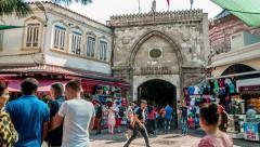 Istanbul - Grand Bazaar entrance (Kapalicarsi) Stock Footage