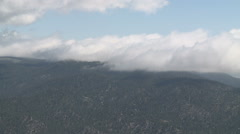 Moisture Laden Clouds Moving up Slopes of Sierra Nevada Mountains - stock footage