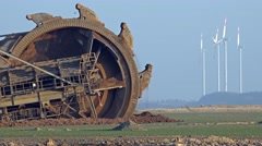 Giant Bucket Wheel Excavator - Opencast mining - Time lapse Stock Footage