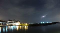Stormy Night in Sri Lanka Stock Footage