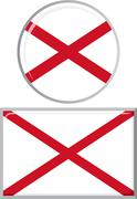 Northern Ireland round and square icon flag. Vector illustration Stock Illustration