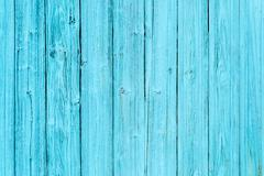 Blue old wood plank texture - stock photo