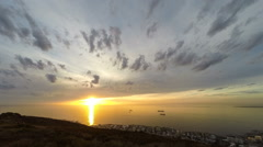 Time Lapse Cape Town Sunset from Atop Signal Hill Stock Footage