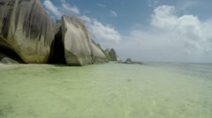 La Digue Seashore Stock Footage