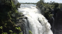 Plunging Cataract at Victoria Falls, Zimbabwe Stock Footage