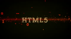 Binary Keywords HTML5 Black - stock footage