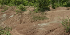 Cheltenham Badlands is a small example of badlands formation in Caledon, Ontario Stock Footage