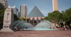 Hyperlapse of Edmonton City Hall at Churchill Square in daytime Stock Footage