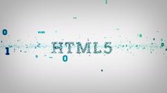 Binary Keywords HTML5 White - stock footage