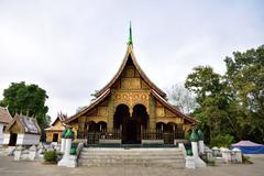 Wat Xieng thong temple, Luang Pra bang, Laos - stock photo