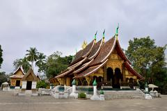 Wat Xieng thong temple, Luang Pra bang, Laos - stock photo