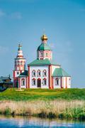 Church of Elijah the Prophet, Elias Church - church in Suzdal, Russia - stock photo