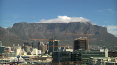 The Cloth on Table Mountain - stock footage