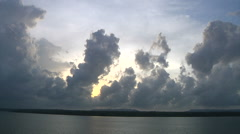 Towering  Cumulus Clouds are Typical of Tropical Skies - stock footage