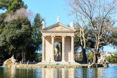 Tempio di Esculapio. Villa Borghese. Rome, Italy - stock photo