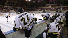 Substitution of players during a hockey match. Stock Footage