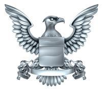 Eagle Heraldry Design Stock Illustration