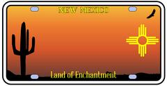 New Mexico License Plate Stock Illustration