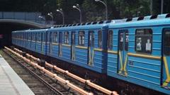 Metro Kiev Ukraine Stock Footage