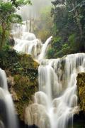 Kuang Si Waterfall, Luang prabang, Laos - stock photo