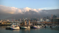 Morning Clouds over Cape Town, South Africa Stock Footage