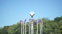 Football Euro Flags Stock Footage