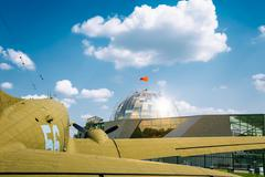 Lisunov Li-2 of Soviet Air Force standing near building Beloruss Stock Photos