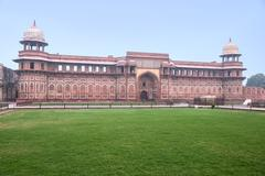 Mughal palace in Agra fort, India - stock photo
